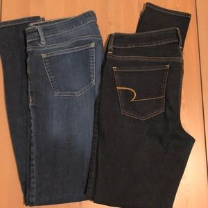 Collection of size 10 jeans. Eileen Fisher and AE